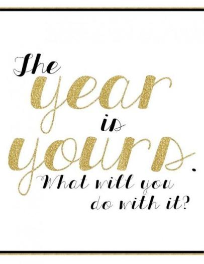The year is yours! Make your dreams come true: set a date, break it down into steps, and take action. via fitnesscheerleader.com #motivation #quotes #inspiration