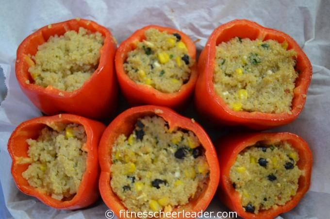 Spicy Quinoa Stuffed Peppers