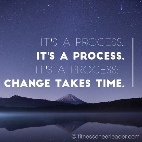 Change takes time - keep on going, you WILL get there!