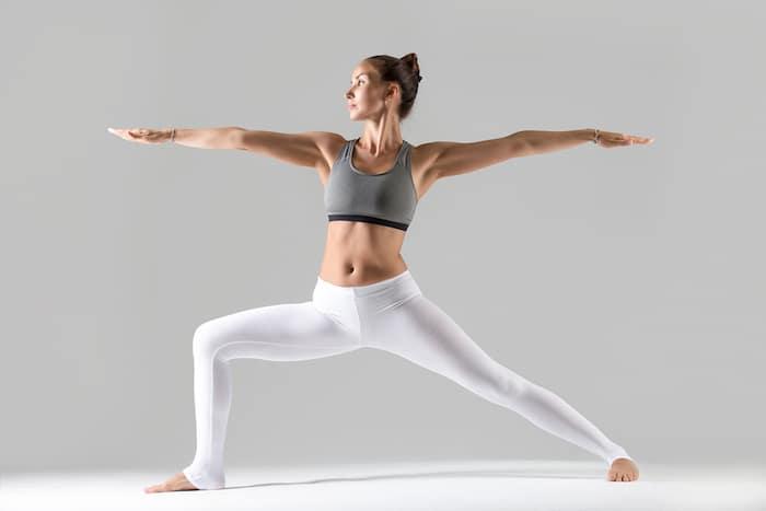 yoga standing pose warrior 2