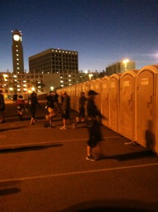 Porto Potty Heaven (only runners would understand an excitement over a port o potty)