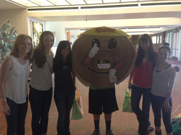 Photo With New Friends and a Pancake