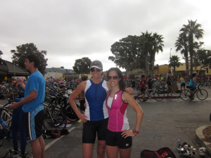 Asia and I After Completing Our First Triathlon 2 Years Ago at Solana Beach!