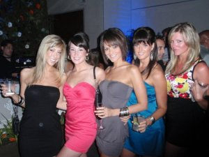 With Lana (far right) and friends during one of our many nights out!