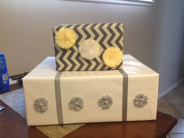 Craft #1 - a wedding card box to match our theme