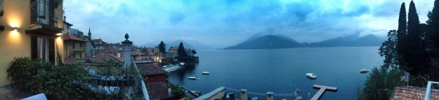 View from the hotel in Lake Como