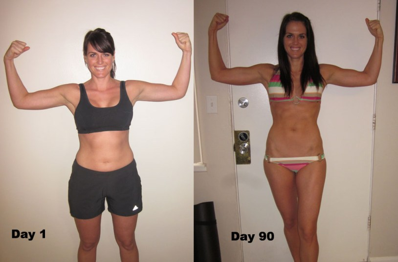 p90x results woman