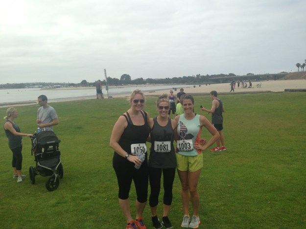 With two friends and former coworkers at the 5k