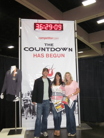 With Mike and Allison - ready to rock our first marathon!