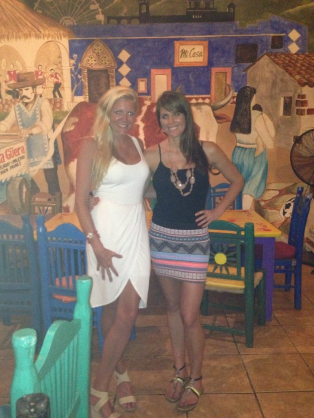 With the Bride to Be at the Rehearsal Dinner