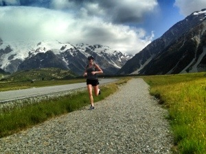This isn't even the trail in Mt. Cook - just the path from our hotel to the trailhead