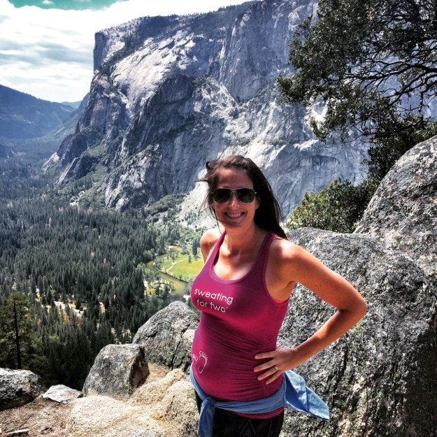 Rocking the baby bump during a hike in Yosemite last weekend