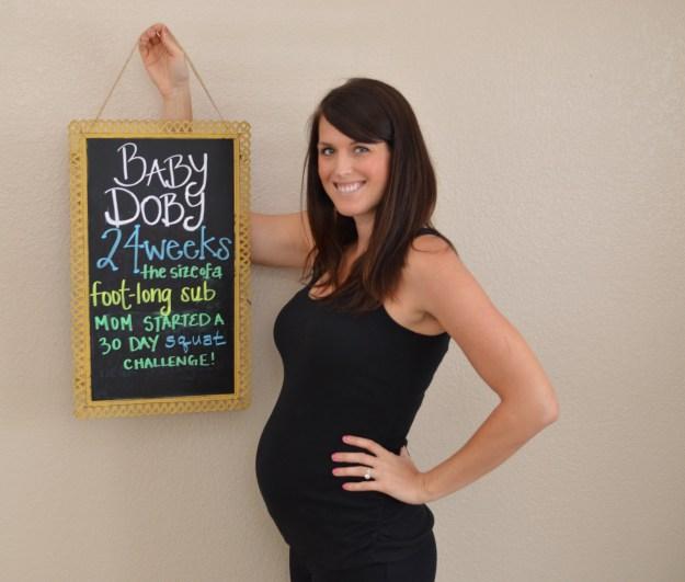 24 weeks pregnant photo