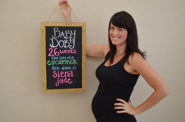 pregnancy updates chalkboard