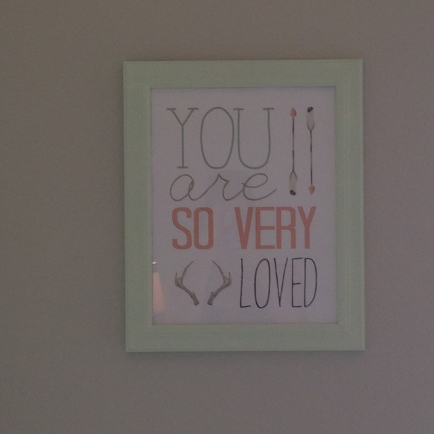 I got this art on Etsy and painted the frame myself