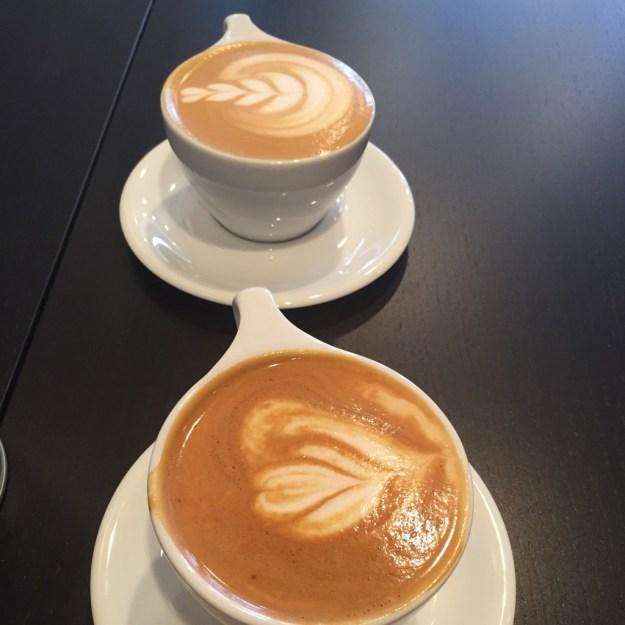 Vanilla almond milk lattes
