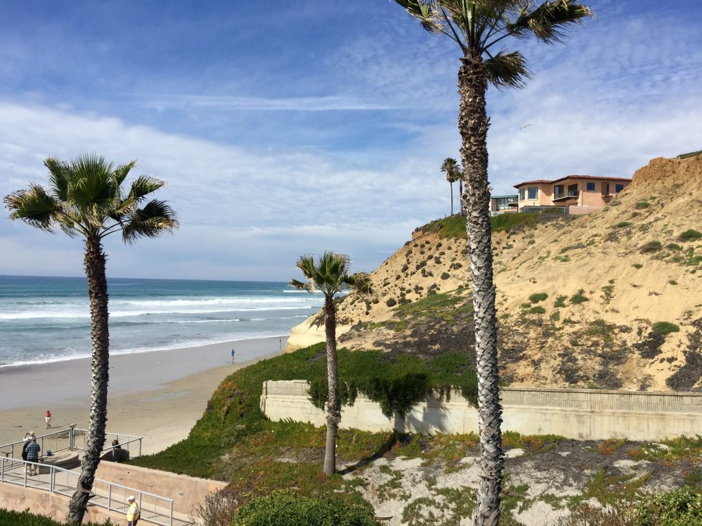 Beautiful view from my water stop in Solana Beach