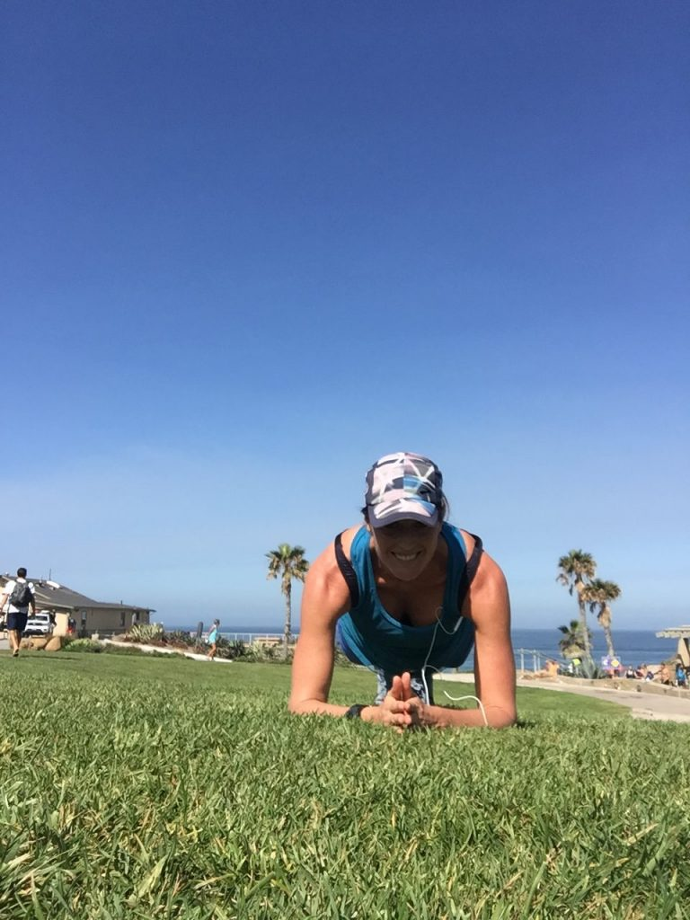 Saturday Facebook challenges are often a bonus plank challenge (post a photo of you doing it and/or your time)