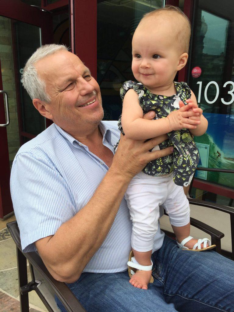 With Grandpa Woyski