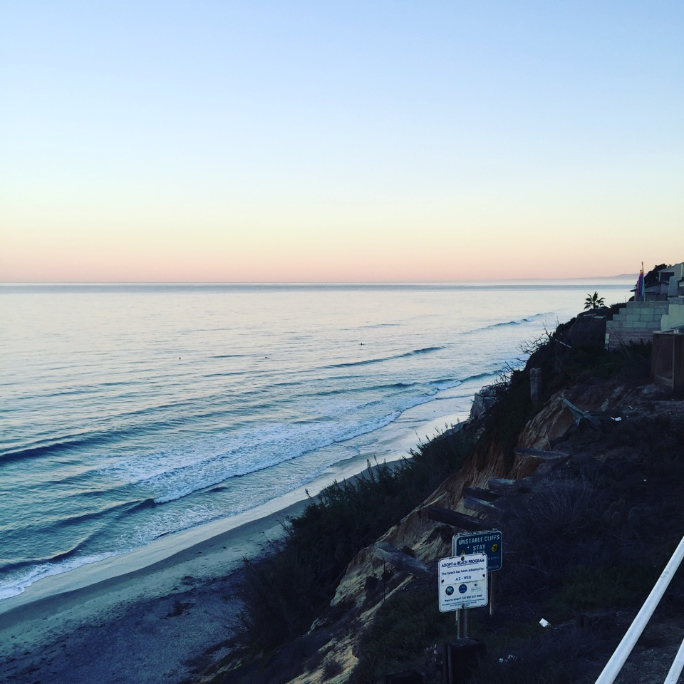 This is the coastline that you'll run along during the Encinitas Half Marathon!
