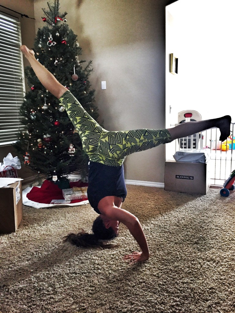 I actually learned to do a handstand earlier this year (one of my goals for 2016).