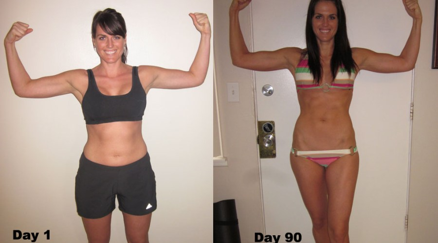 P90X Before and After Woman