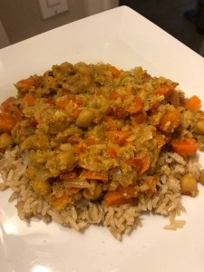 coconut cauliflower chickpea curry