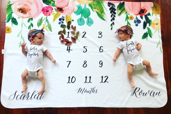 Dear Scarlett & Rowan – 1 Month Old Twins