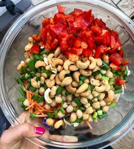 Meal Prep: Thai Cashew Quinoa, Chicken and Broccoli Bowls