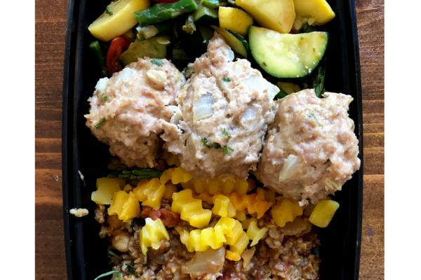 Meal Prep: Turkey Meatball Bulgar Wheat Veggie Bowls