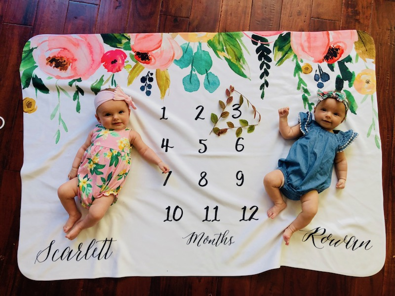 3 month old twin update