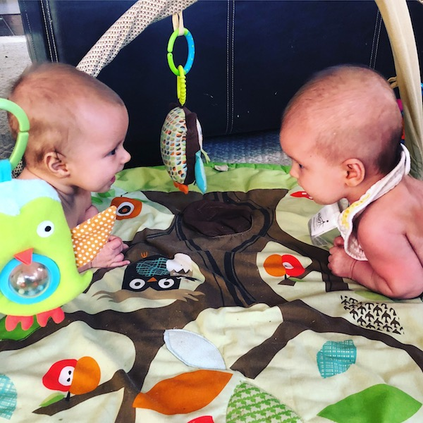 tummy time twins