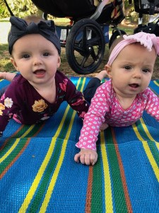 six month old twin blog