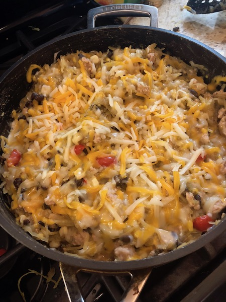 turkey enchilada spaghetti squash recipe