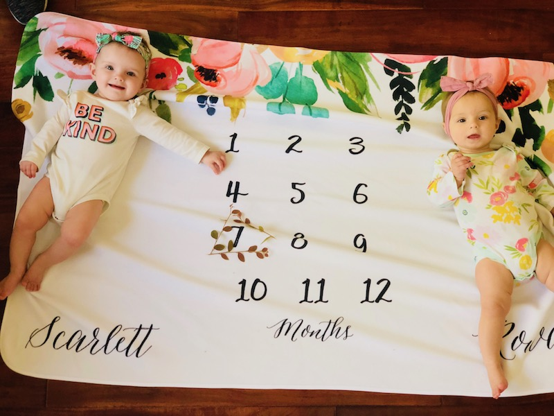 7 month old twins milestone