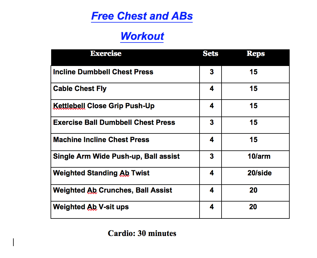Chest And Abs Workout