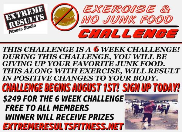 Exercise & No Junk Food Challange