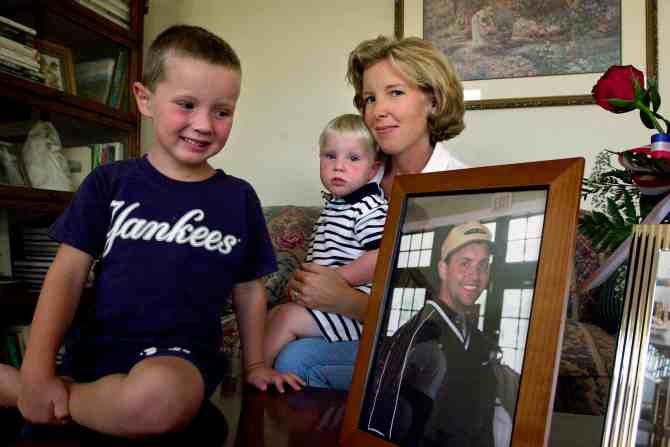 Todd Beamer's wife Lisa and their two sons