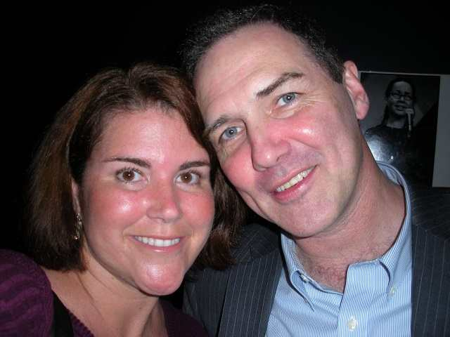Norm Macdonald with his wife Connie Valliancourt
