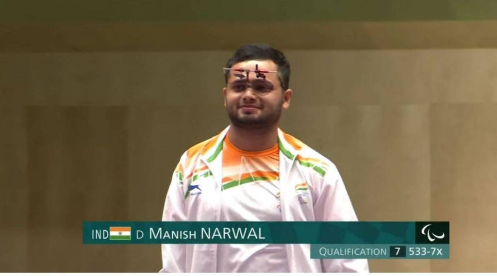 The 19-year-old Manish Narwal shot a total of 218.2, a Paralympic record, to claim the yellow metal.