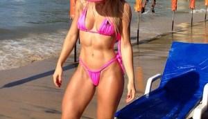 beach fitness abs