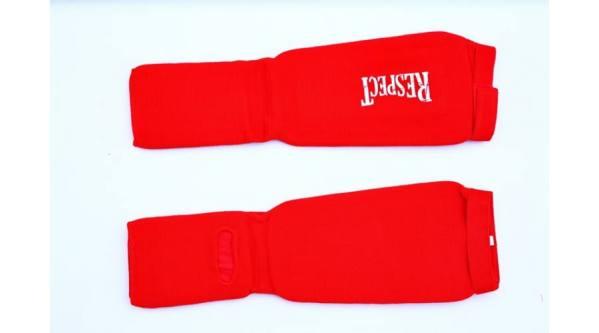 textíl lábvédő piros 2 fitnessmarket