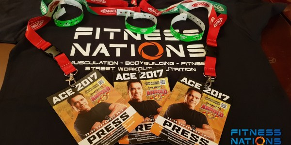 Press credentials for Arnold Classic Europe 2017