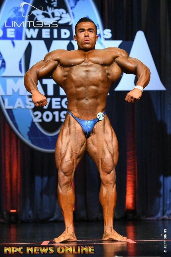 Vainqueur du classement général bodybuilding homme Olympia amateur Las Vegas 2019 Isaac Olmos - super lourd