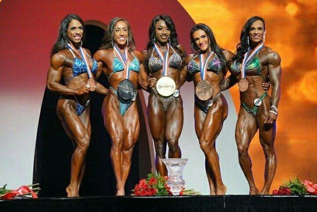 Finalistes de la catégorie women's physique à Mr Olympia.