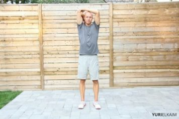 Demo of triceps stretch