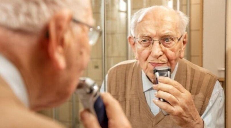 seniors shaving