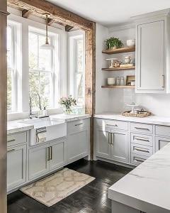 spacious kitchen view