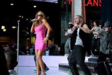 Mariah Carey works out in hee