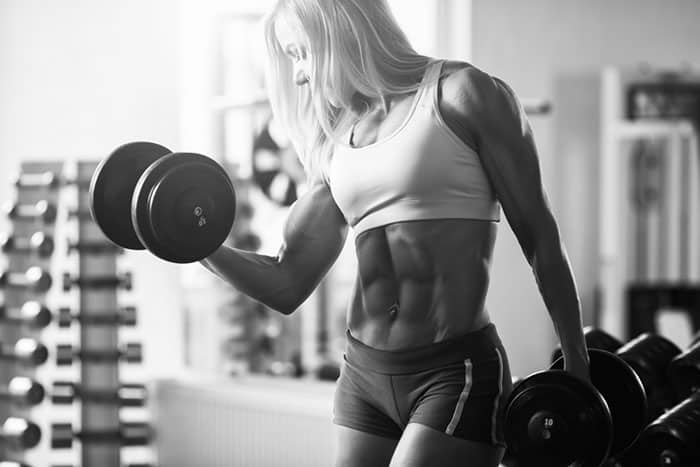 Woman building strength